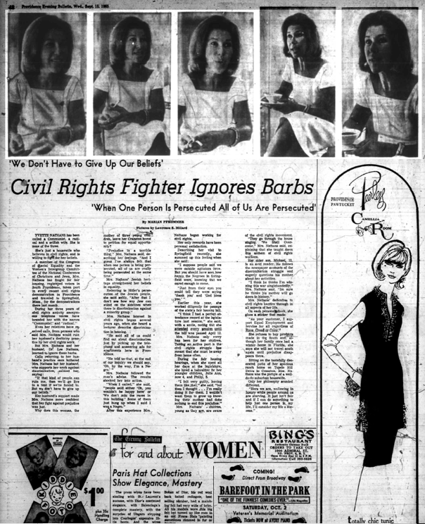Civil Rights Fighter, Providence Evening Bulletin, Sept. 15, 1965