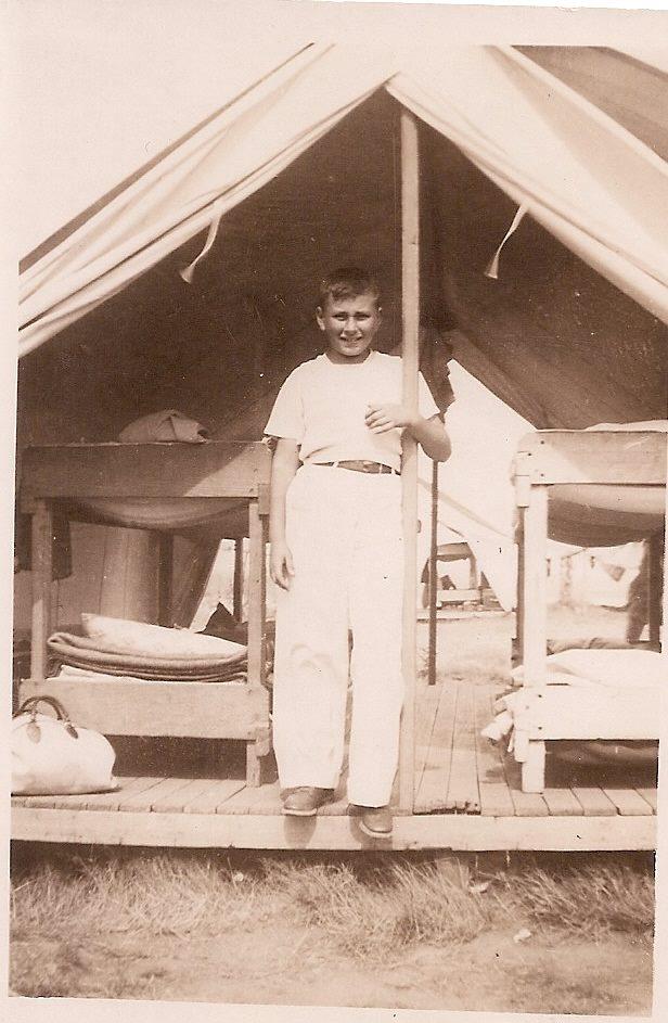 Dr. Lee C. Nathans at Camp Fuller. Age 12, 1935