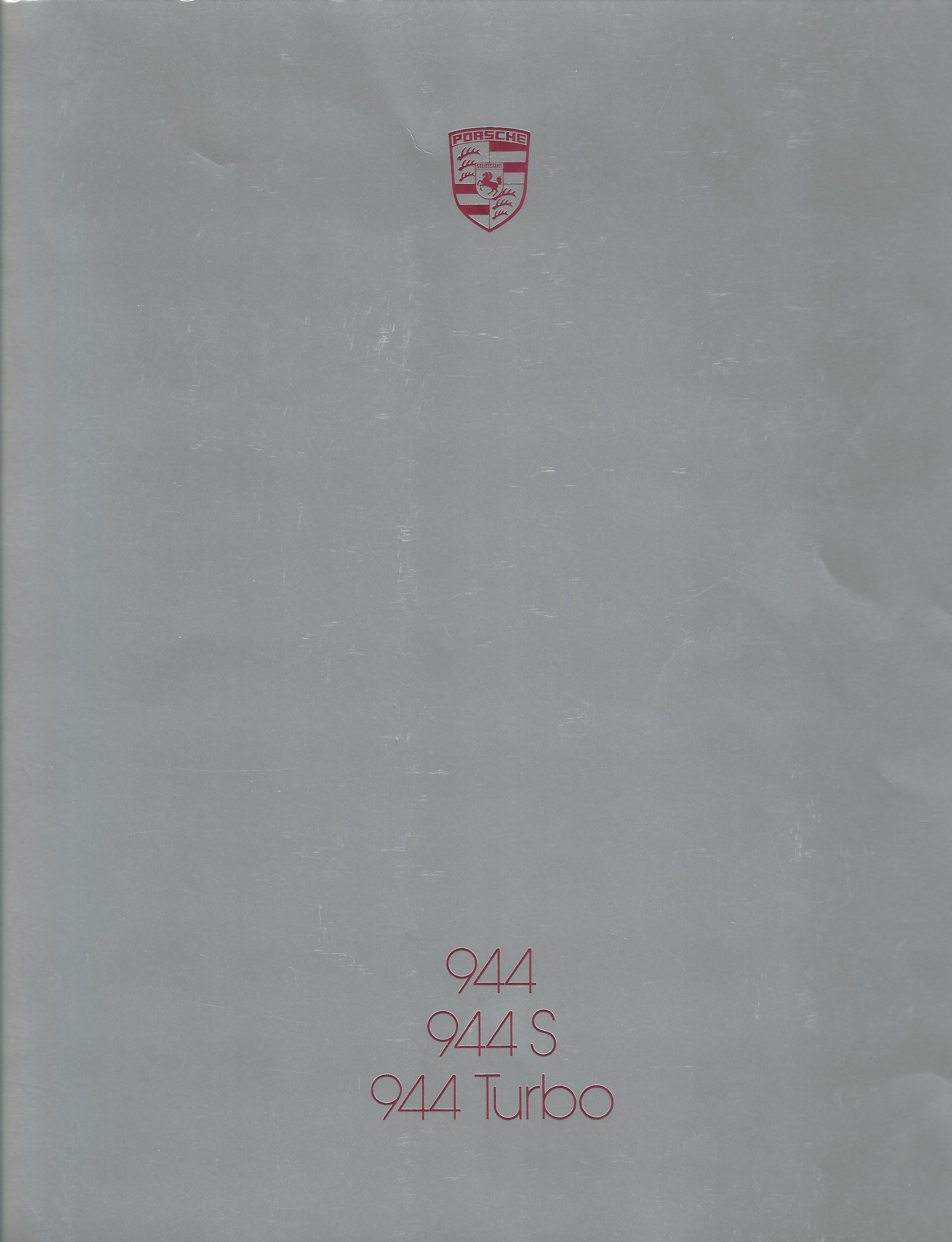 Porsche 944S 1987_Brochure Cover